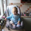 Naš malček pri počitku po kosilu