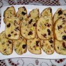 Cantuccini s pistacijami in brusnicami