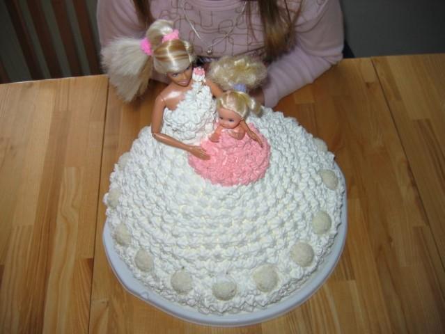 Barbie torta-sadna