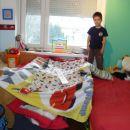 hiška iz posteljnine