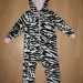 next mehek flis zebra pajac 3-4 leta