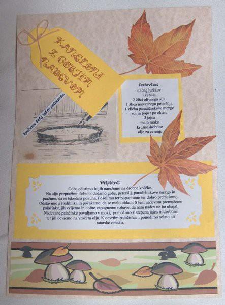 Nov scrap poskus - recept za kanelone z jurčkovim nadevom