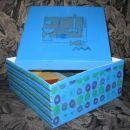 klasična škatla, prebarvana z jupolom gold+dipi, servetke, prelakirana z lakom:)))