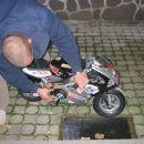 mini moto motorček na bencin