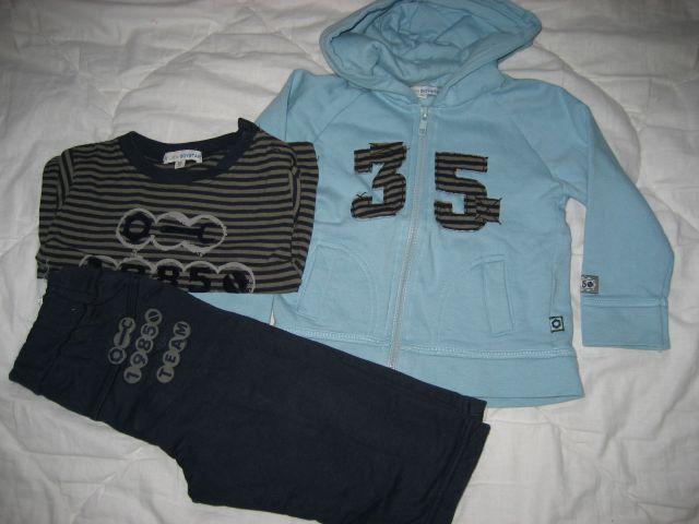Trenirka z majico little boystar 80