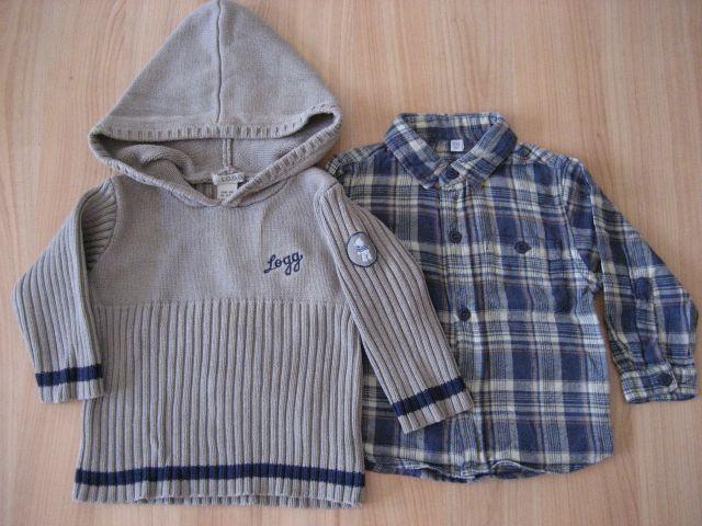 H&m 80 pulover in srajčka po 1,5 eur