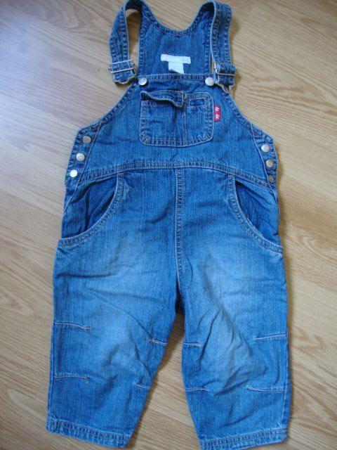 H&m jeans hlače na naramnice 80, 5 eur