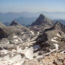 Z leve: Begunjski vrh, Vrbanove špice, Rjavina, Rž