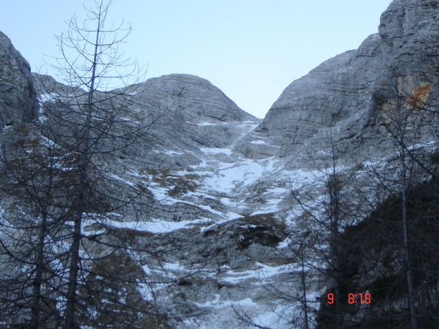 Triglav,zim.vzpon(Zadnjica-škrbina)-9.11.12 - foto