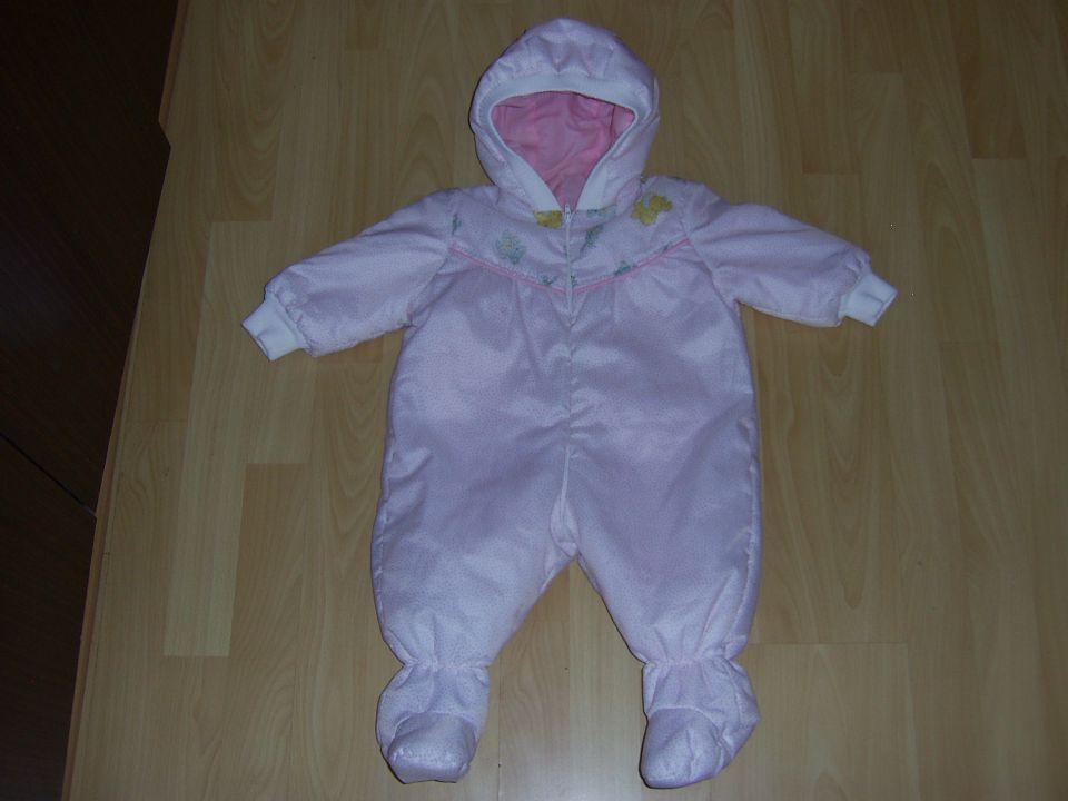 zimski pajac pimmy v 6 mesecev cena 7 eur beli z roza pikicami