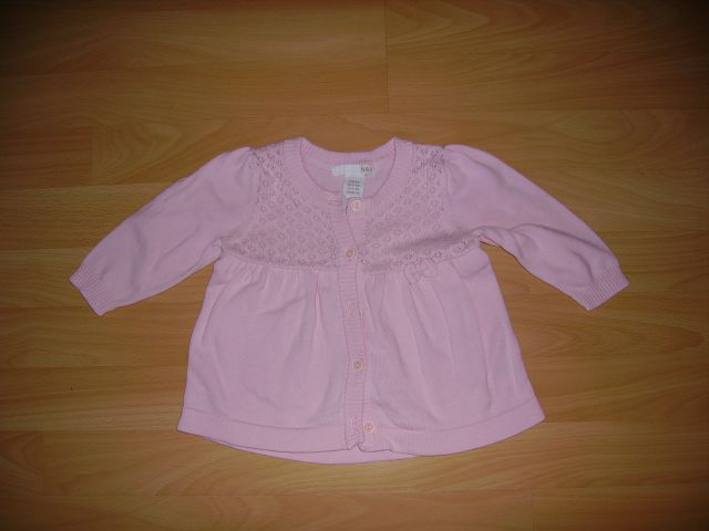 Pletena bombažna jopica H&M v 68 cena 3 eur oblečena par krat