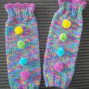 ročno pletene gamaše - grelci za noge