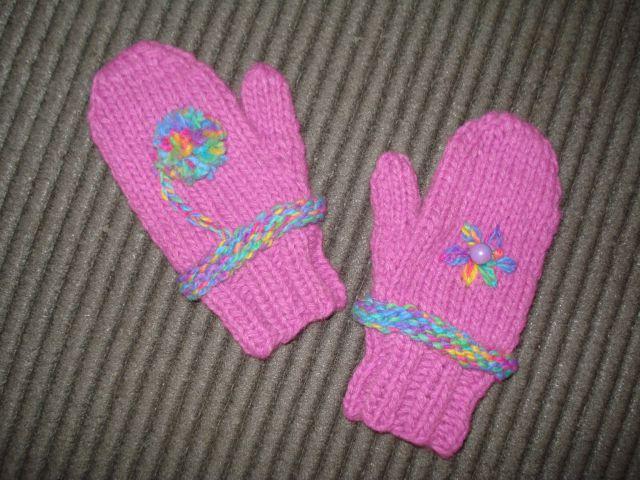 Ročno pletene rokavice