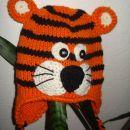 ročno pletena kapa tiger