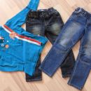 2x jeans 110, 1x majica 110/116