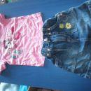 minnie majčka in jeans krilo 86-92