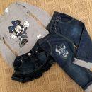 Majcka, jeans krilce, jeans hlace vse st.80