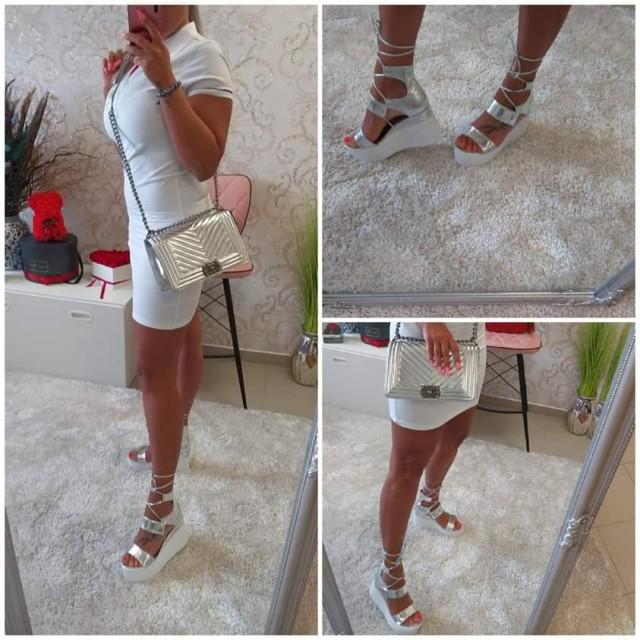 Srebrni sandali - foto