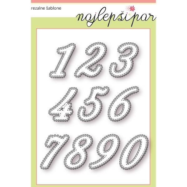 Številke s šivi