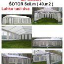 ODDAJA ŠOTORA 5x8.m in 3x6.m , AGREGATA ,