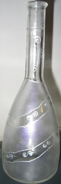 Steklenica (barva frost efekt,srebrna kontura)