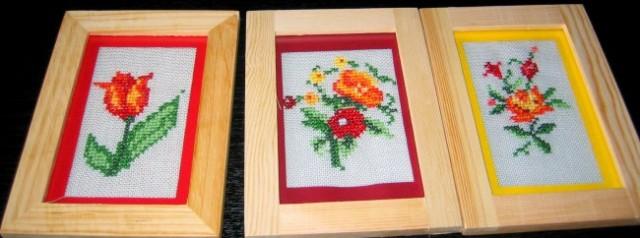 Slike (vezenje s križci,okvirji iz IKEE)