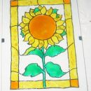 Slika (narisano z lepljivimi barvami,potem prilepljeno na okvir)