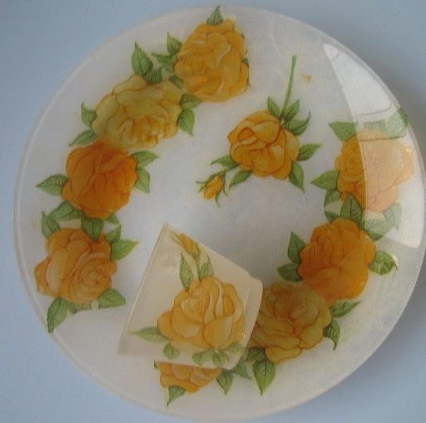 Oranžne vrtnice,barva zmrzali