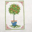 srečno drevo (vezenje s križci)