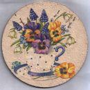 skodelica cvetja - podstavek za posodo