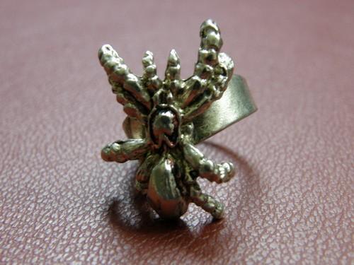 Prstan s pajkom (velik 2,5cm), nastavljiv na različne debeline prstov:-)