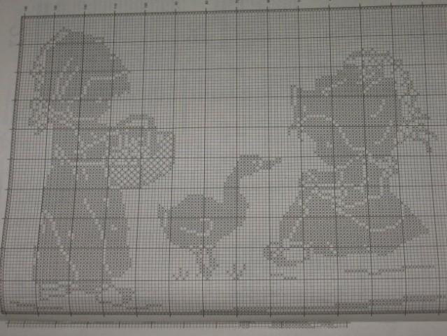 1 poln kvadratek = 3 šibične pentlje 1 prazen kvadratek = 1 šibična in 2 verižni pentlji