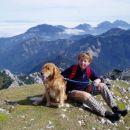 rondi in moja mami na Begunjščici(2060 m)