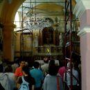 Notranjost cerkvice v logu pod Mangartom.