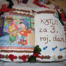 Torta knjiga. Leva stran: Torta Nutella, desna stran: Jagodne sanje (z malinami)