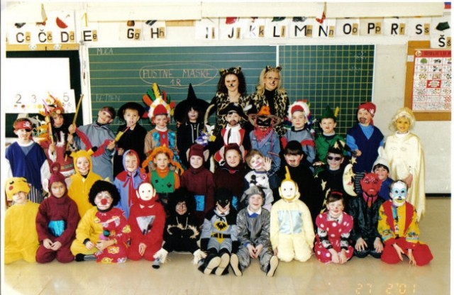 1 razred maškarada