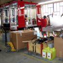 27.6.2007 Gornja Radgona, Mettis - dostava opreme; nadgradnja, pripeljana oprema, zaboj za