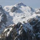 Panorama v smeri Mišelj vrha (levo) in Kanjavca (v sredini), spodaj v ospredju Vernar