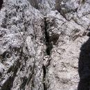 Pot Anita Goitan - sestop s terase pod Malo špico v škrbino med njo in Turnom