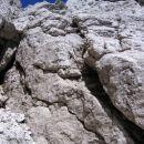 Zgornji prag v grapi, po kateri poteka pristop na Divjo kozo