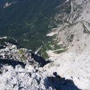 Žabniška krnica s kočo Pellarini z vrha Divje koze