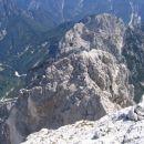 Dolina Mrzle vode levo in dolina Belega potoka desno, vmes pa greben s Trbiške Krniške špi