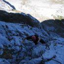 Jaz med plezanjem v Via Italiani