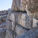 Ferrata Gianni Aglio: ekstremno izpostavljena prečnica v steni stolpa Torrione Gianni - po