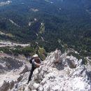 Plezanje v ferrati Giuseppe Olivieri na Punta Anno