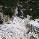Ferrata Ettore Bovero na Col Rosà: pogled navzdol