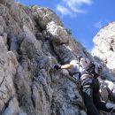 Plezanje v ferrati Ettore Bovero na Col Rosà