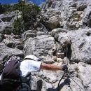 Strmo plezanje v ferrati Ettore Bovero na Col Rosà