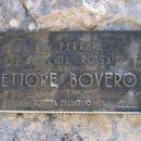 Tabla na začetku ferrate Ettore Bovero na Col Rosà