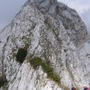 Ozek greben iz smeri Struga proti Zadnji Ponci